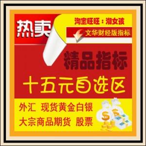文华财经指标/15元自选区/动力线/一线法/商品期货公式/黄金白银